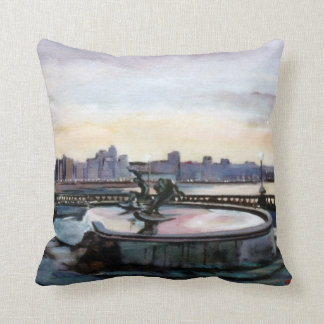Source of the surfers (To Corunna) Throw Pillow