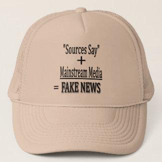 """Sources Say"" + Mainstream Media = FAKE NEWS Trucker Hat"