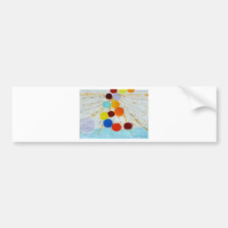 Sourcing - A abstract painting by Susan Richter Car Bumper Sticker