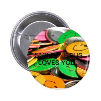 sourirs, SPALLING HAMMER… JESUS COIL YOU. Pinback Button