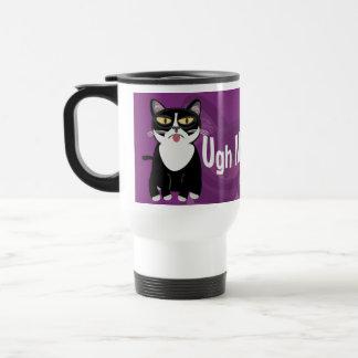Sourpuss hates Mornings Travel Mug