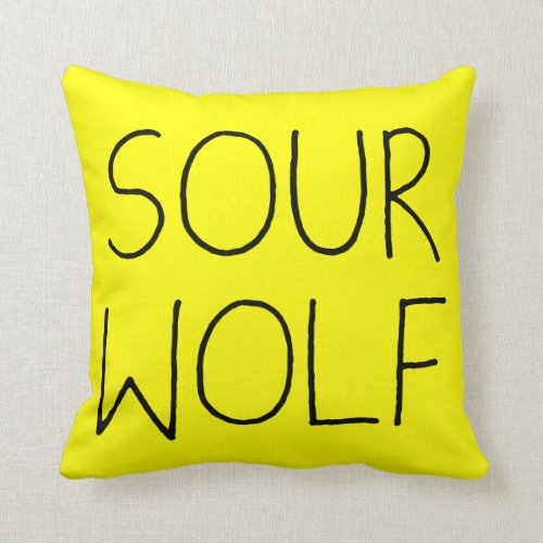 SOURWOLF (Customizable Color) Throw Pillows