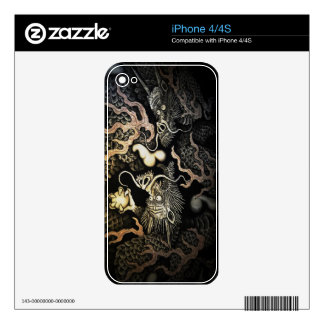 Souryuzu Twin Dragons in Temple Decal For iPhone 4S