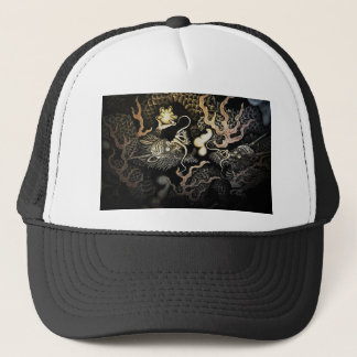 Souryuzu Twin Dragons in Temple Trucker Hat