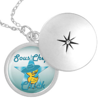 Sous Chef Chick #7 Locket Necklace