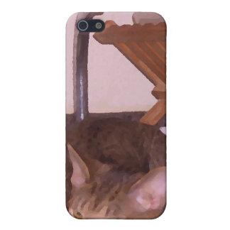 Sous-Cocinero del gato que oculta en el fregadero  iPhone 5 Protector