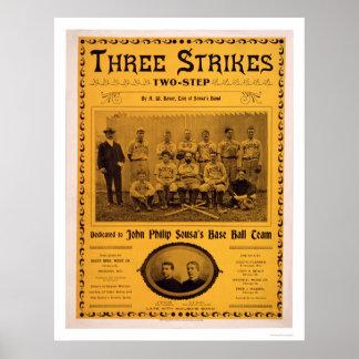 Sousa Baseball Team Music 1902 Poster