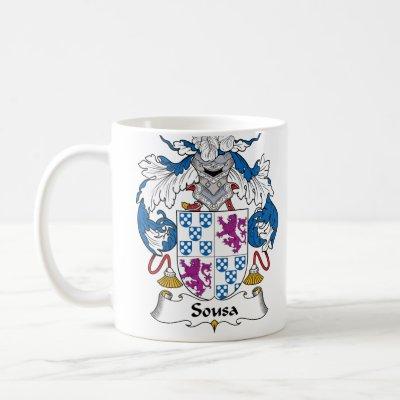 Sousa Family Crest Mug by coatsofarms