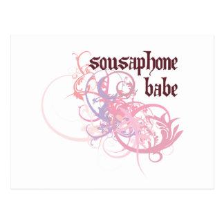 Sousaphone Babe Postcard