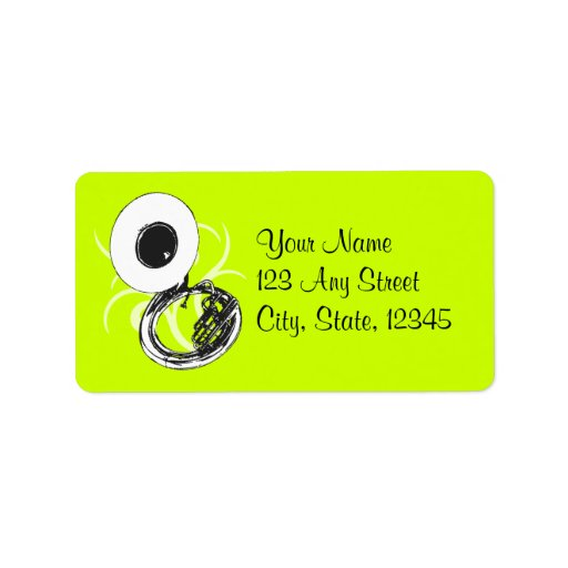 Sousaphone Color Custom Address Label