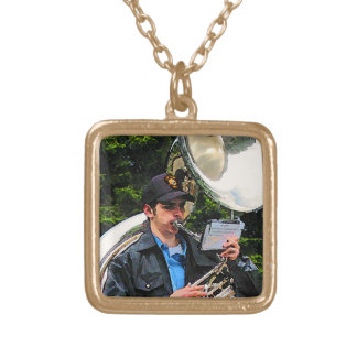 Sousaphone Gold Plated Necklace