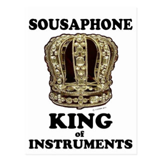 Sousaphone King of Instruments Postcard