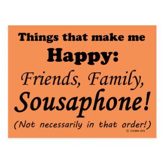 Sousaphone Makes Me Happy Postcard