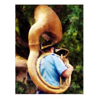 Sousaphone Marching Away Postcard