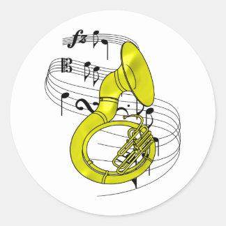 Sousaphone Pegatina Redonda