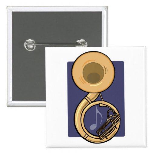 sousaphone pin cuadrado