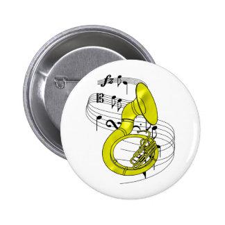 Sousaphone Pin Redondo De 2 Pulgadas