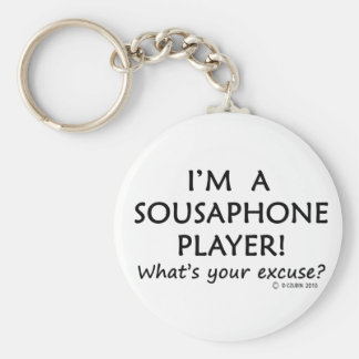 Sousaphone Player Excuse Keychain