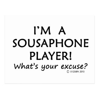 Sousaphone Player Excuse Postcard