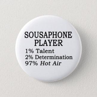 Sousaphone Player Hot Air Pinback Button