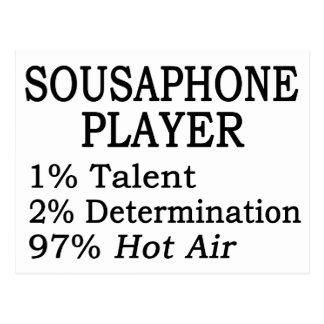 Sousaphone Player Hot Air Postcard