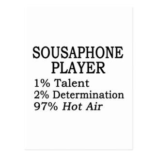 Sousaphone Player Hot Air Postcard