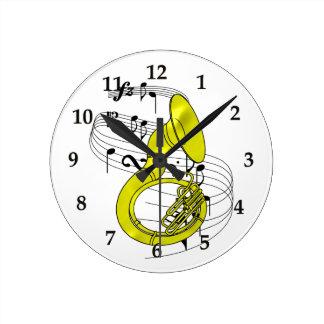 Sousaphone Reloj Redondo Mediano