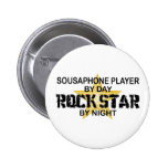Sousaphone Rock Star by Night Pinback Buttons