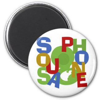 Sousaphone Scramble 2 Inch Round Magnet
