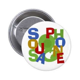 Sousaphone Scramble Pinback Button