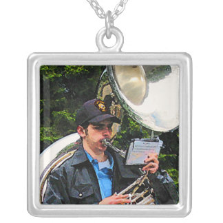 Sousaphone Silver Plated Necklace