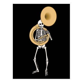 Sousaphone Skeleton Postcard