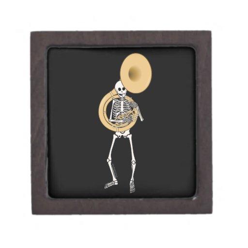 Sousaphone Skeleton Premium Jewelry Box