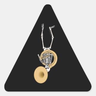 Sousaphone Skeleton Triangle Sticker