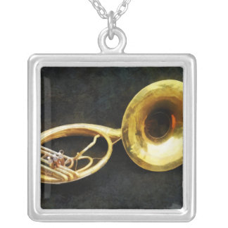 Sousaphone Still Life Silver Plated Necklace