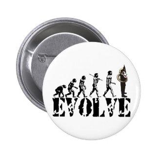 Sousaphone Tuba Tubas Evolution Musical Art Button