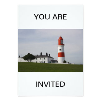 Souter Lighthouse  England  YOU ARE INVITED Custom Invitation