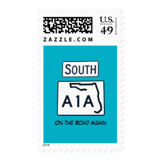South A1A Sign Stamp