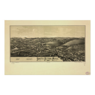 South Acton Massachusetts 1886 Antique Panorama Poster