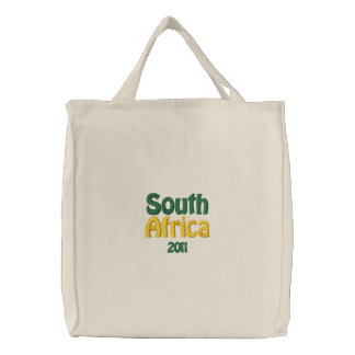 South Africa, 2011 patriotic fans merchandise Embroidered Tote Bag