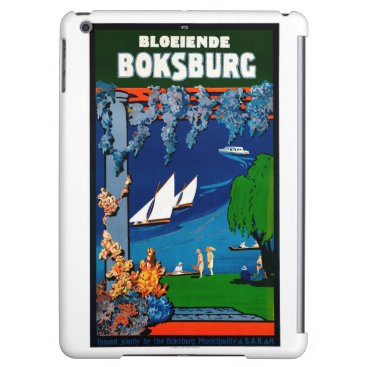 Beach Themed South Africa Boksburg Vintage Travel Poster iPad Air Covers