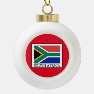 South Africa Ceramic Ball Christmas Ornament