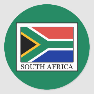 South Africa Classic Round Sticker