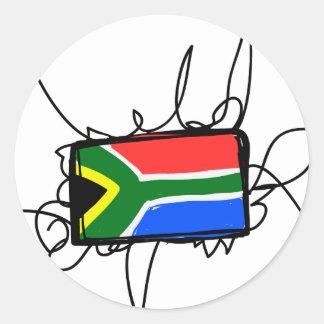 South Africa Classic Round Sticker