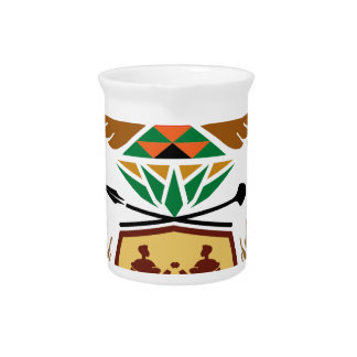 South Africa Coat of Arms Beverage Pitchers
