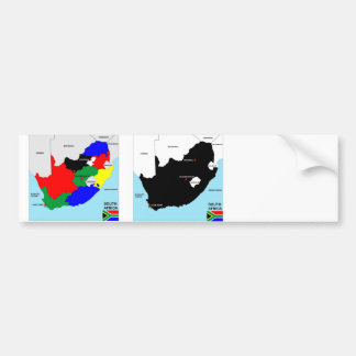south africa country political map flag bumper sticker