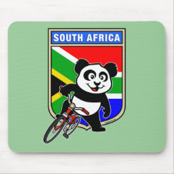 Mousepad with South Africa Cycling Panda design