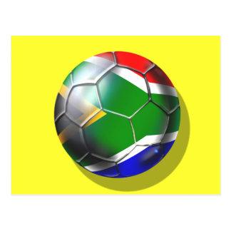 South africa deep groove Soccer ball artwork Postcard
