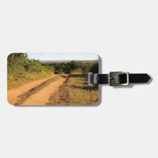 South Africa dirt road Bag Tag