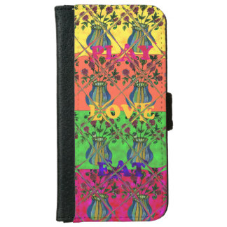 South Africa  Eat Love Play Pots Hakuna Matata Art Wallet Phone Case For iPhone 6/6s